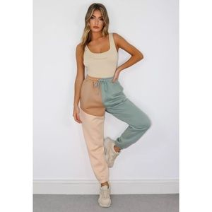 MISSGUIDED COLORBLOCK JOGGERS